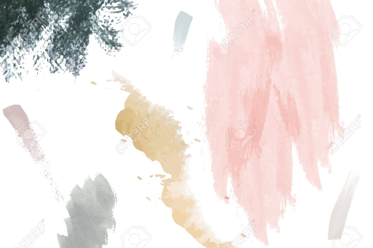 Pastel paintbrush stroke textured on a white background vector - 123281891