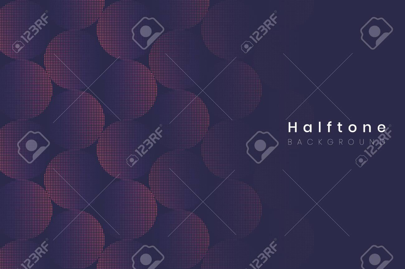 Geometric halftone navy blue background vector - 122905627
