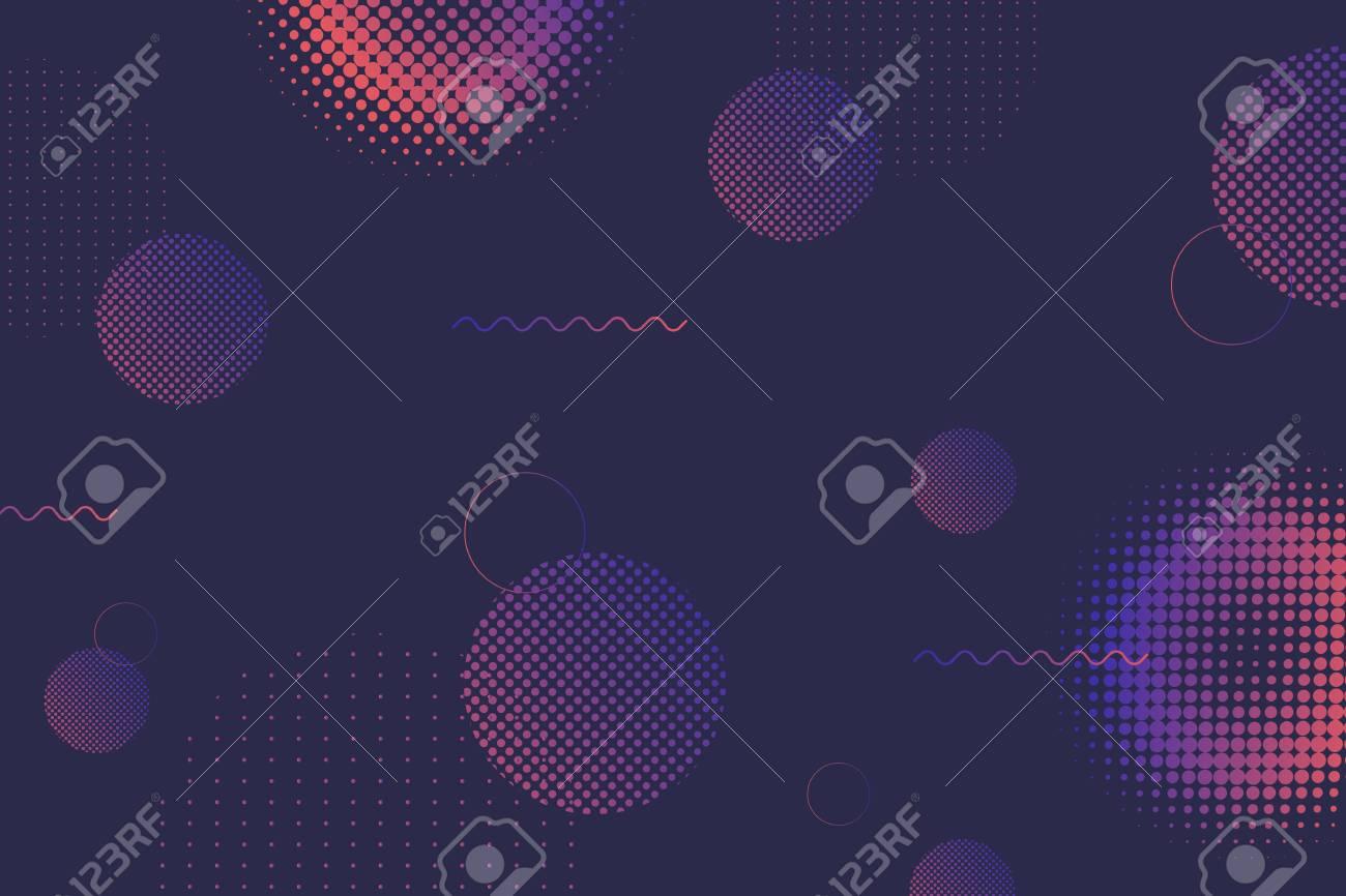 Geometric halftone navy blue background, vector illustration - 121628165