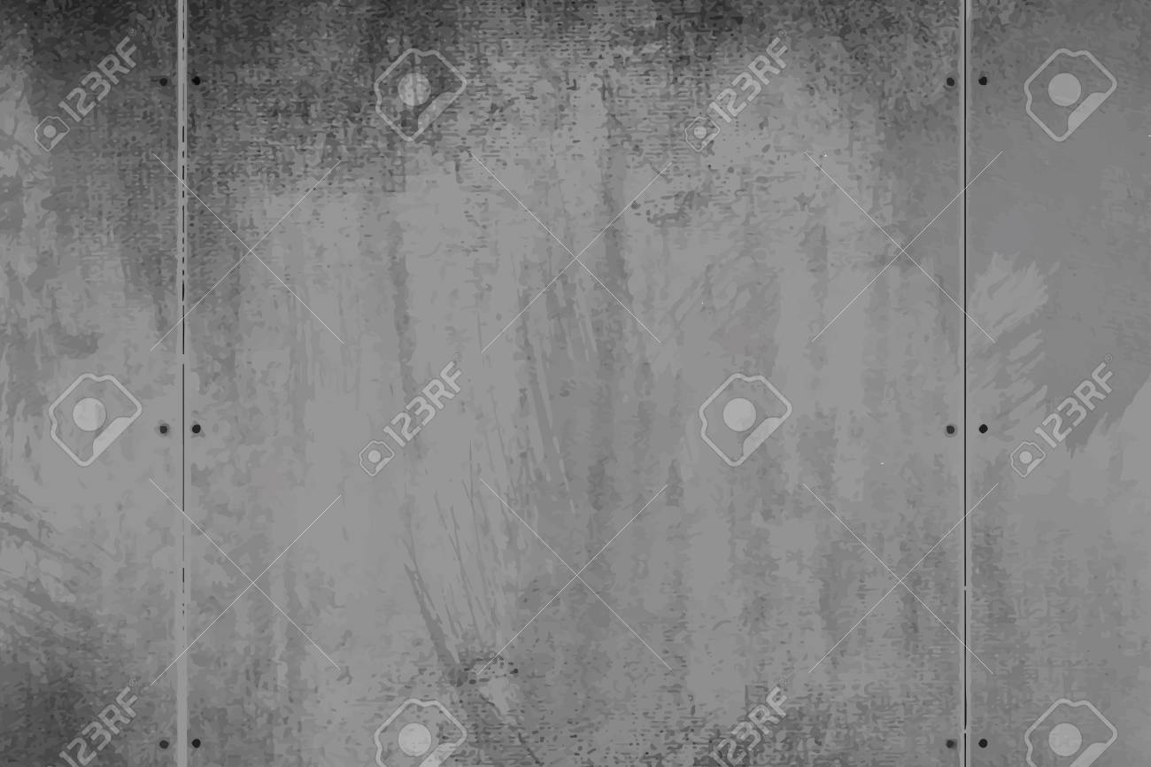 Rustic gray cement textured wall vector - 122905706