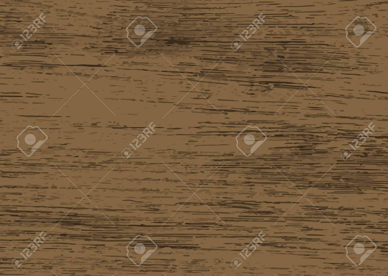 Rustic dark brown wooden textured background vector - 122905732
