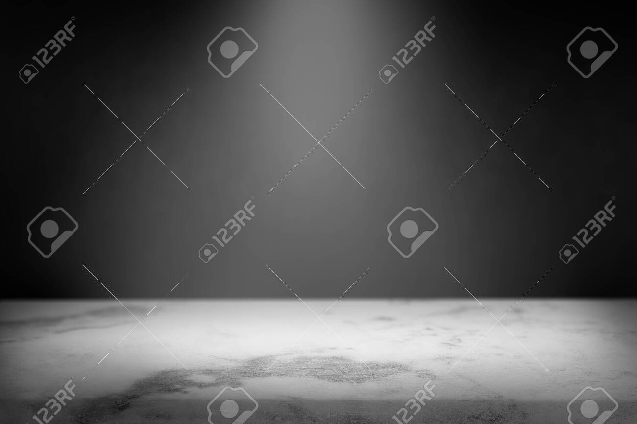 Black Wall With A Spotlight On White Marble Product Background Stock Photo Picture And Royalty Free Image Image 121628371