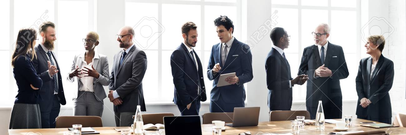 Diverse business people in a meeting - 121628590