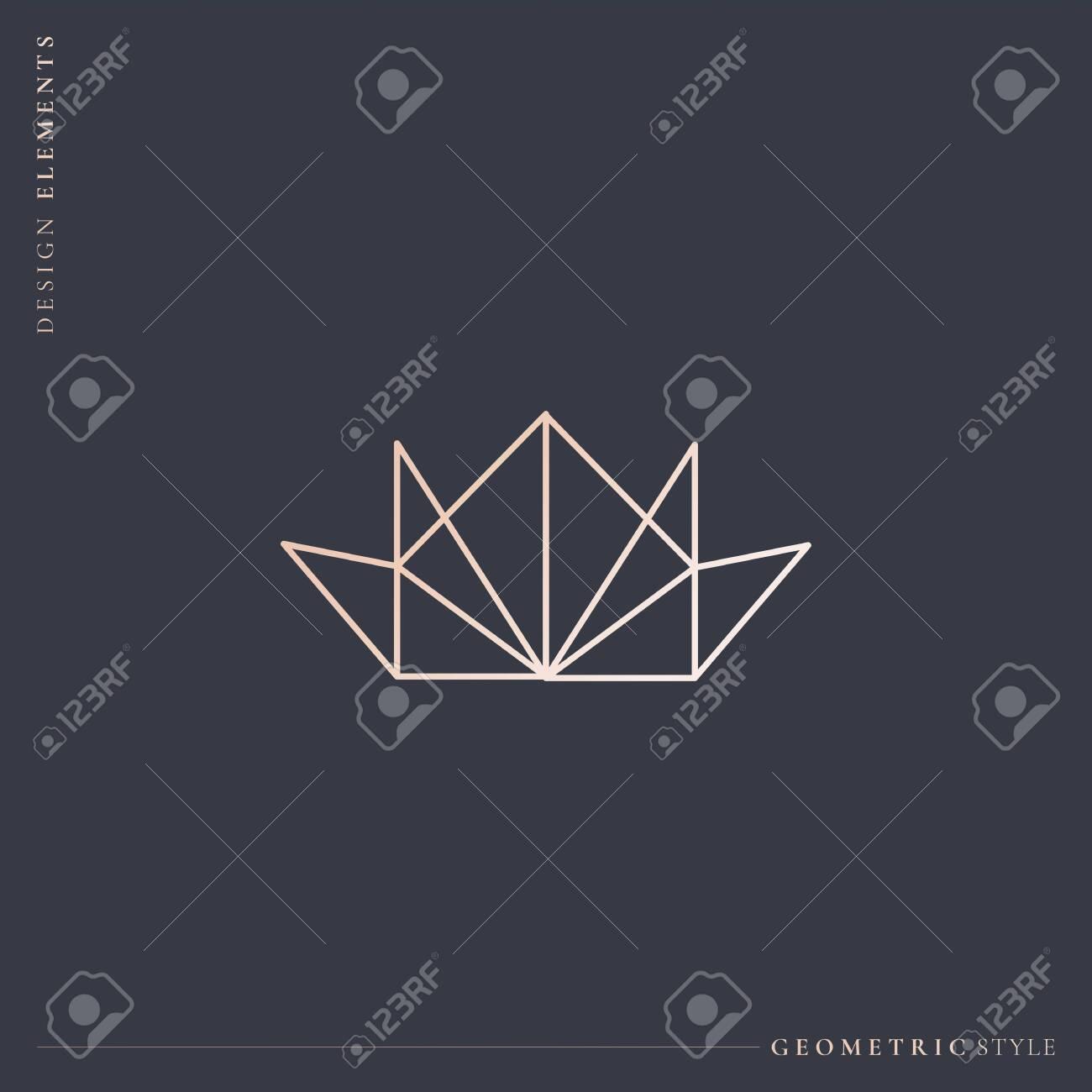 Luxurious geometric crown design vector illustration - 121951648
