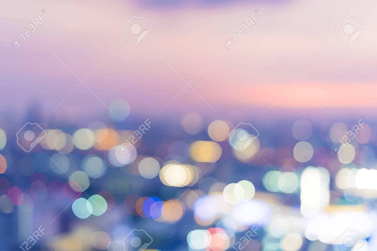 Blurry city light bokeh textured background vector - 122628683