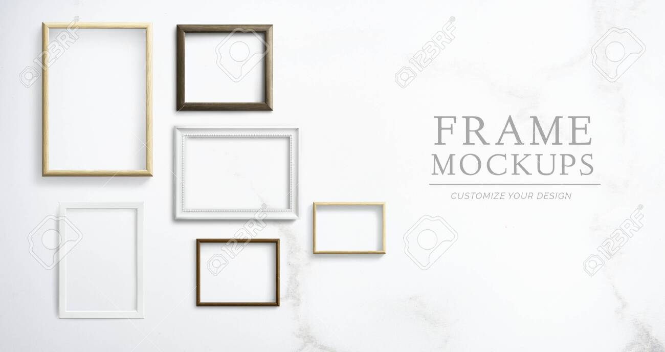 Various frame mockups against a wall - 122425584