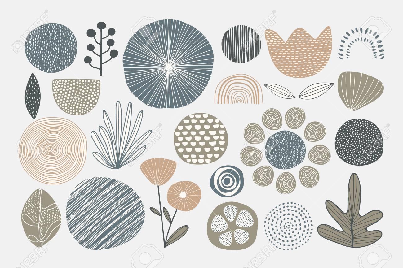 Natural patterned doodle background vector - 123216701