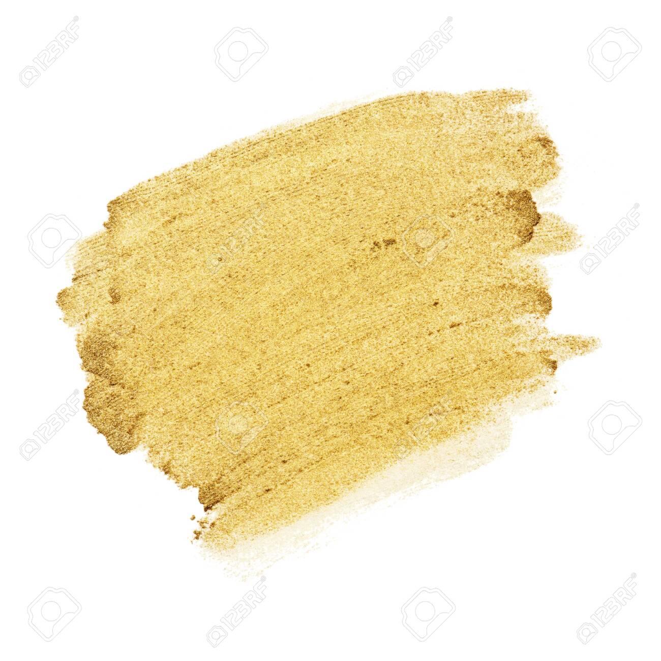 Festive shimmery golden brush stroke - 123234510