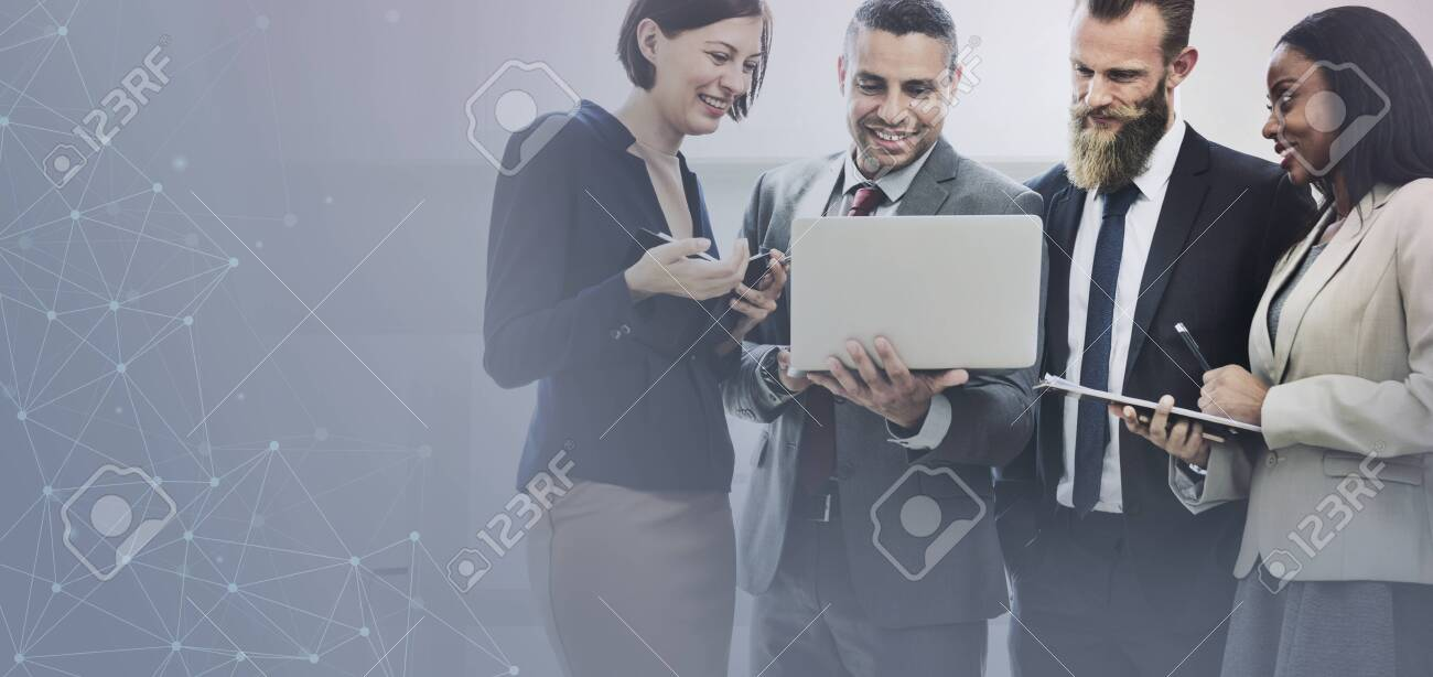 Business team planning on their strategy - 123722182