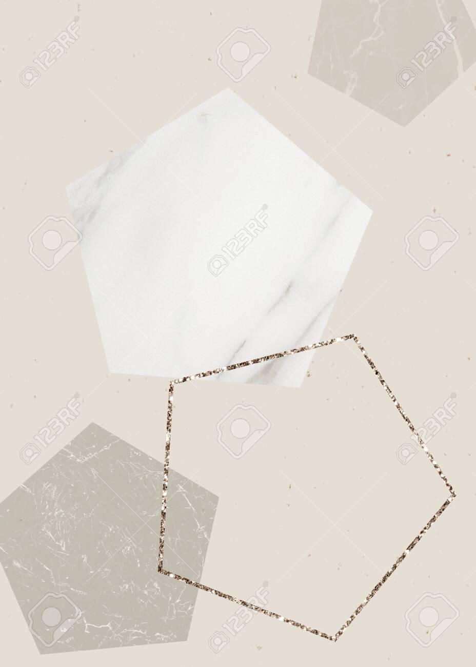 Shimmering pentagon frame design collection - 124724570