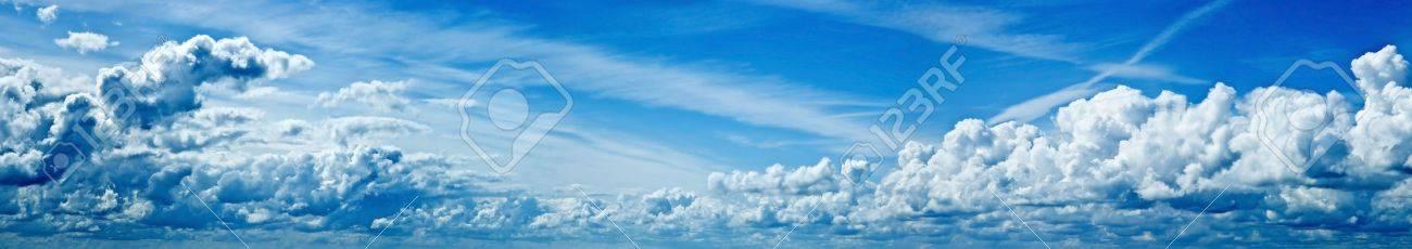 beautiful blue sky panorama Stock Photo - 3375668