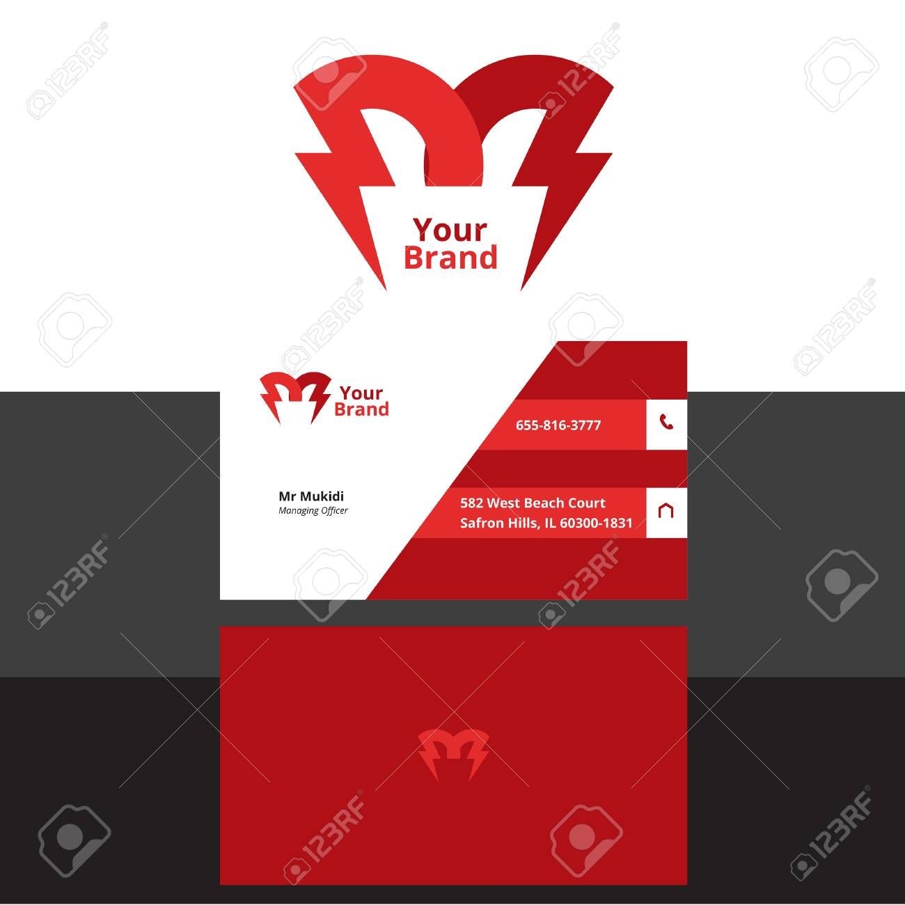 Electrical logo plus business card royalty free cliparts vectors electrical logo plus business card stock vector 75764461 colourmoves