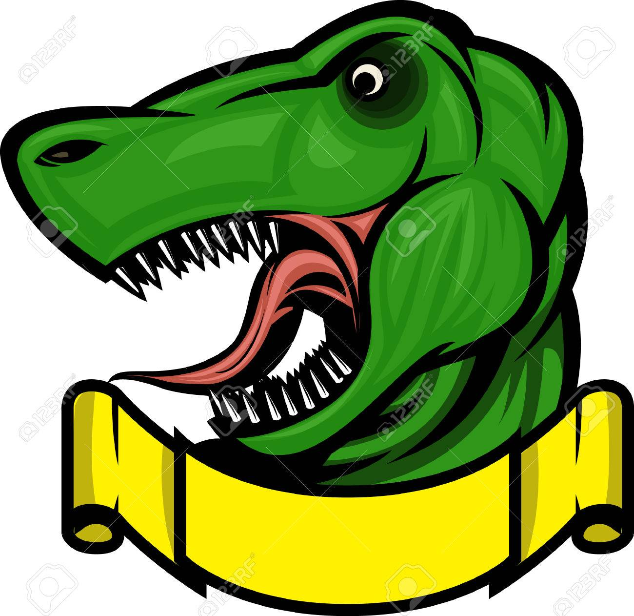 Roaring T-rex mascot! Separated into layers for easy editing. Stock Vector - 7673896