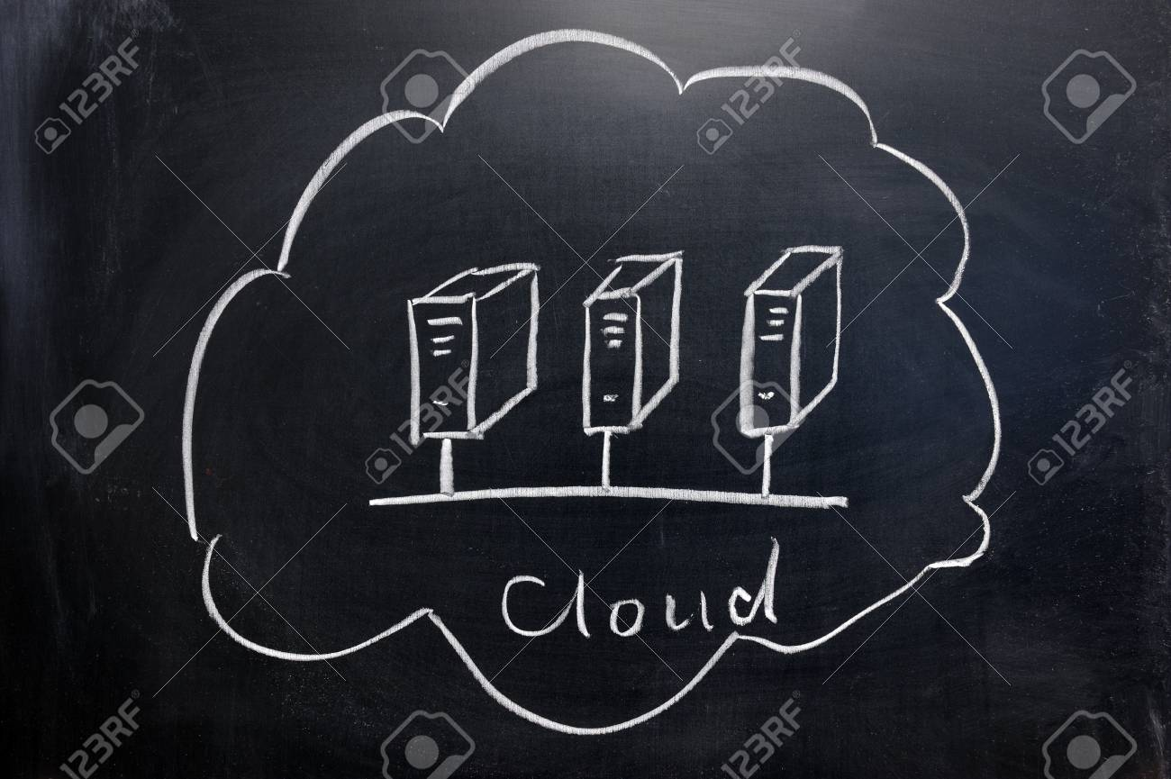 chalkboard image  of cloud computing concept Stock Photo - 11873469
