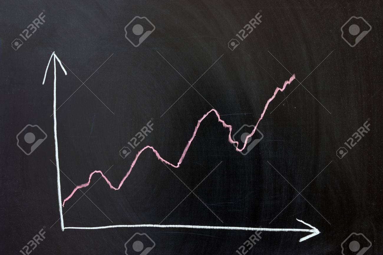 Chalk drawing - curve chart concept Stock Photo - 12008899
