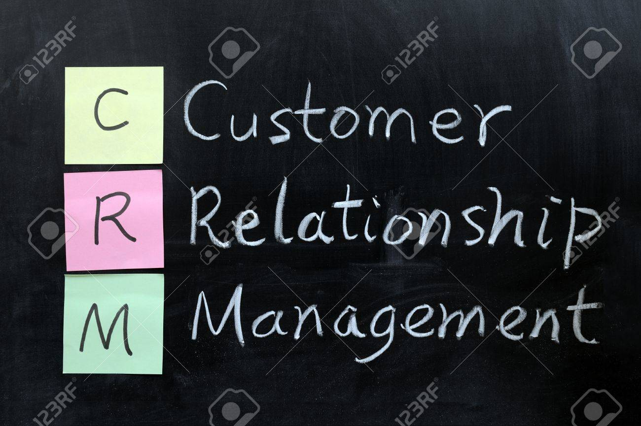 Chalk drawing - CRM, Customer Relationship Management Stock Photo - 12701653