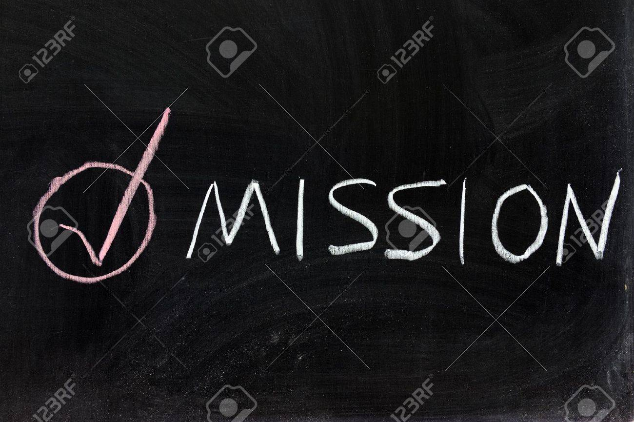 Conceptional chalk drawing - Mission accomplished Stock Photo - 12701759
