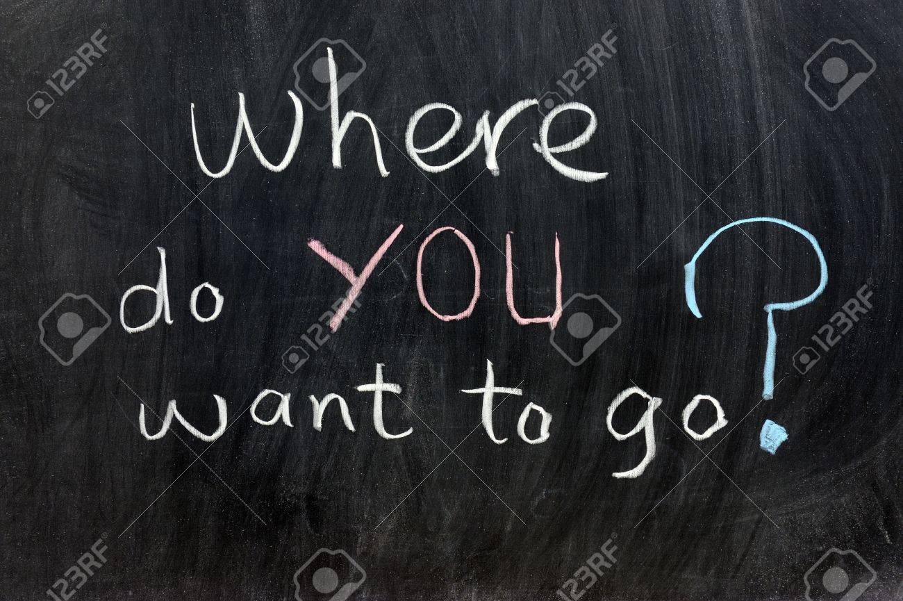 Chalk writing - Where do you want to go? Stock Photo - 12701836