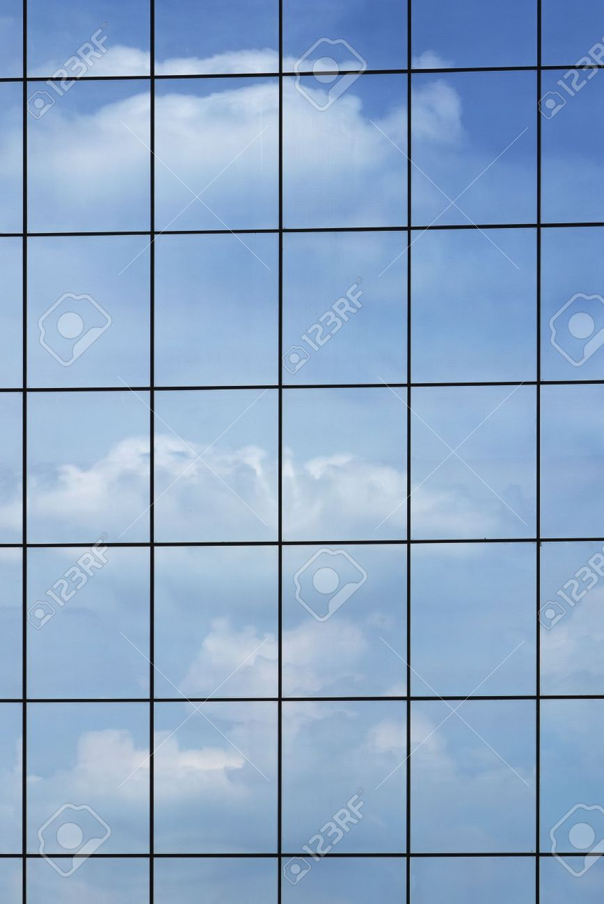 Windows Background Of Modern Building Exterior Stock Photo