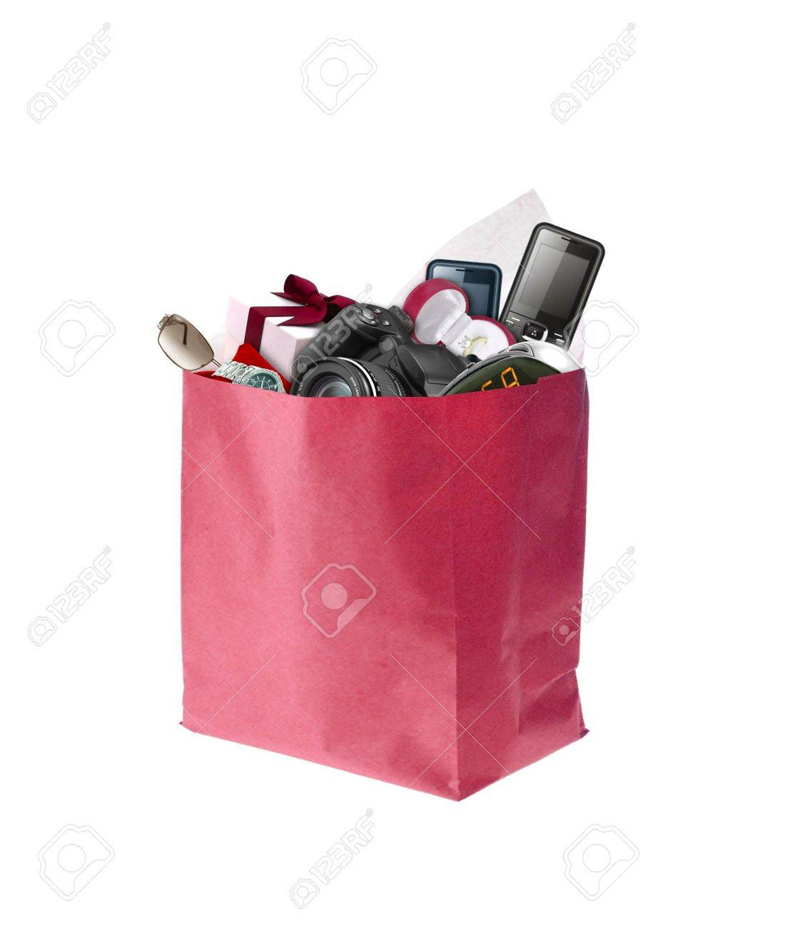 Image Of Shopping Bag Full With Product Stock Photo, Picture And ...