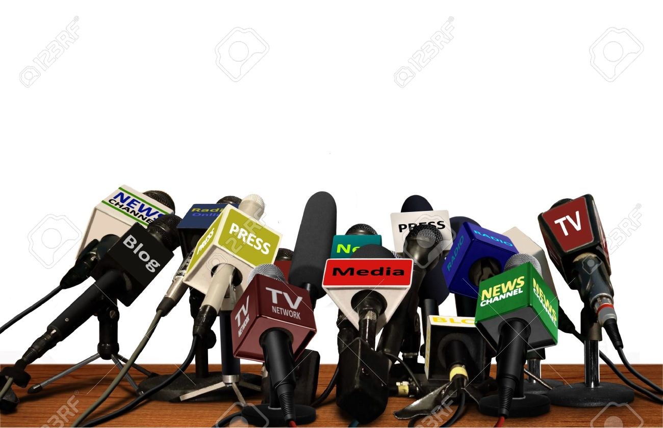Press Media Conference Microphones - 34992057