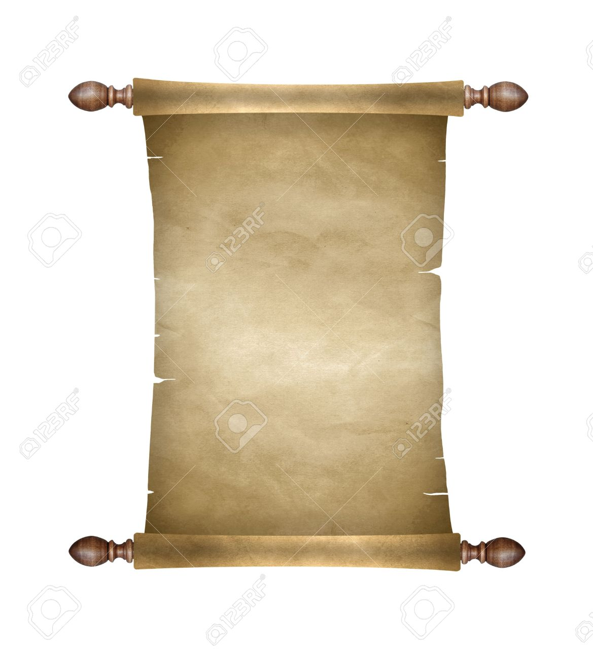 Old blank paper scroll - 38632288