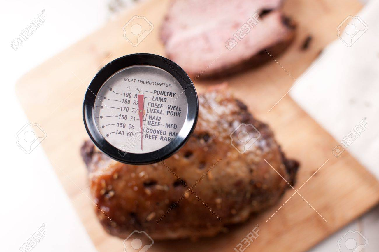 Thermometer for meat view from above Stock Photo - 17571867