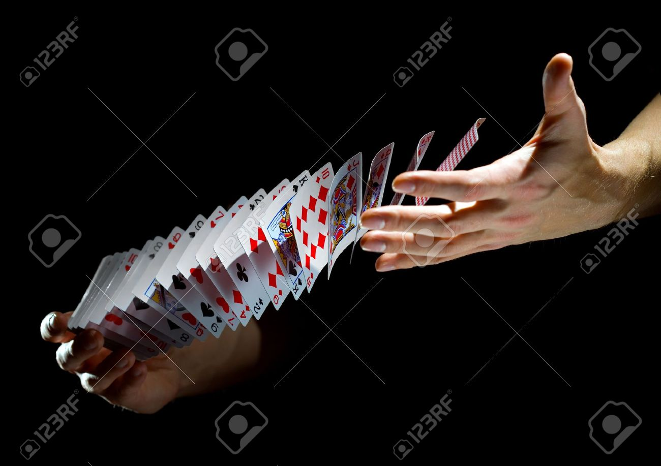 Deck of cards in the hands Stock Photo - 14065492
