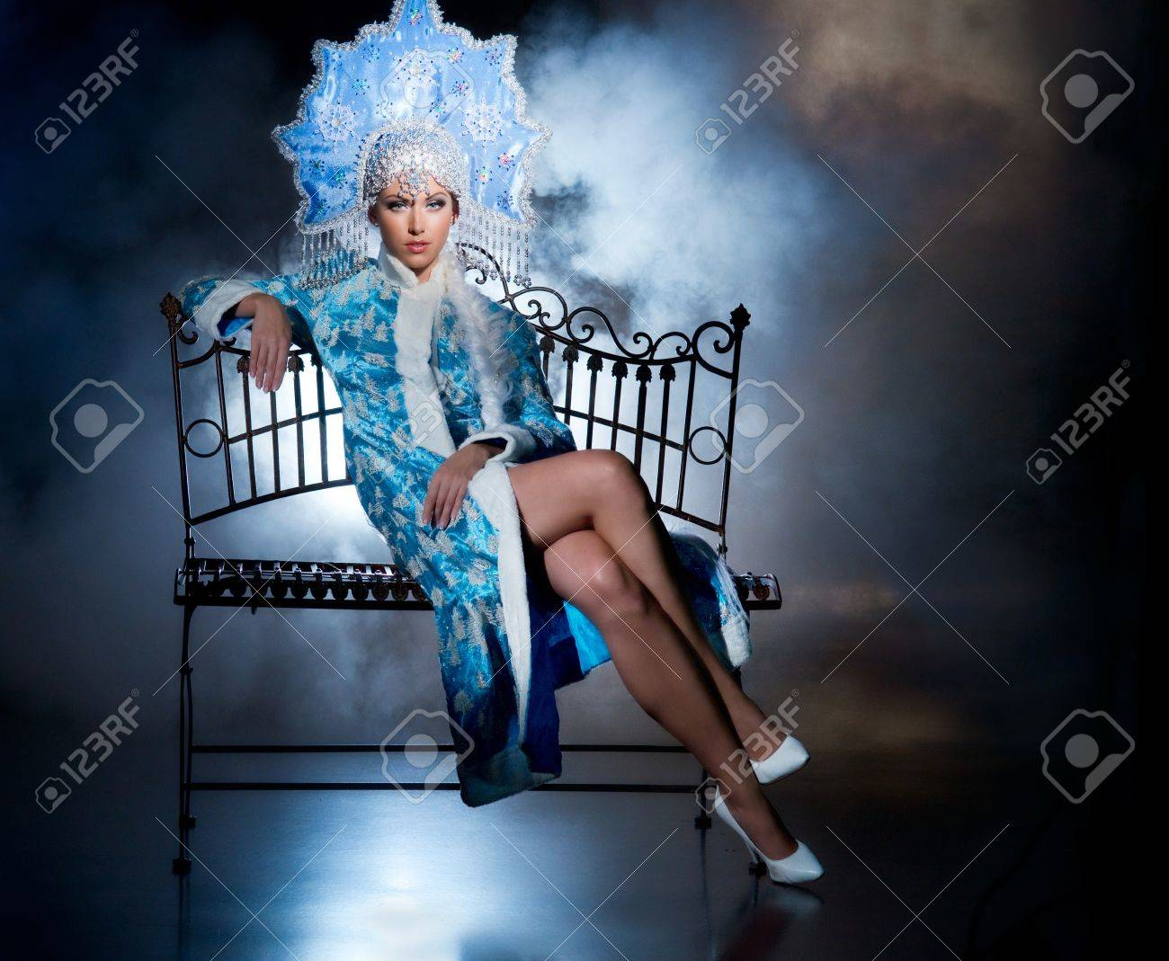 Actress in the role of snow maiden Stock Photo - 16970020
