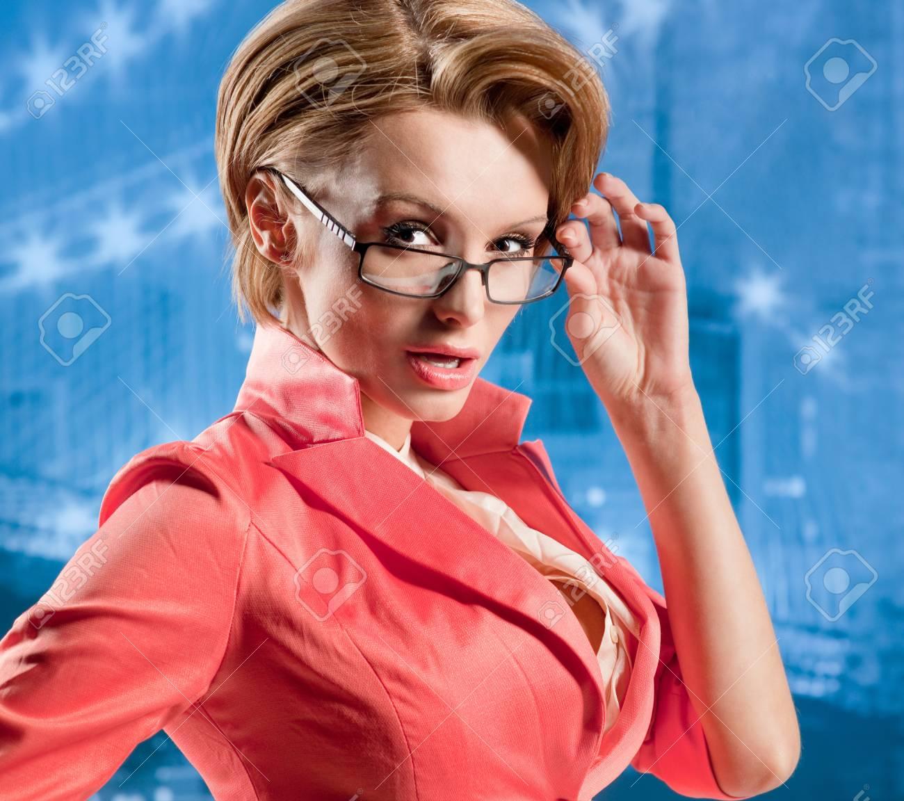 Portrait of business women in glasses Stock Photo - 17383549