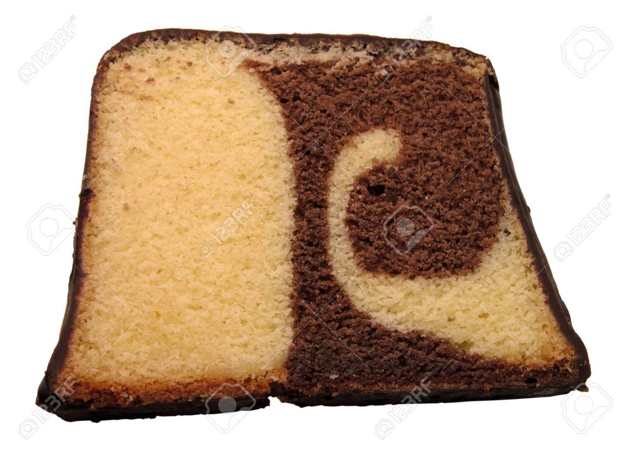 Ein Stuck Trockenen Kuchen Isoliert Uber Weissem Hintergrund