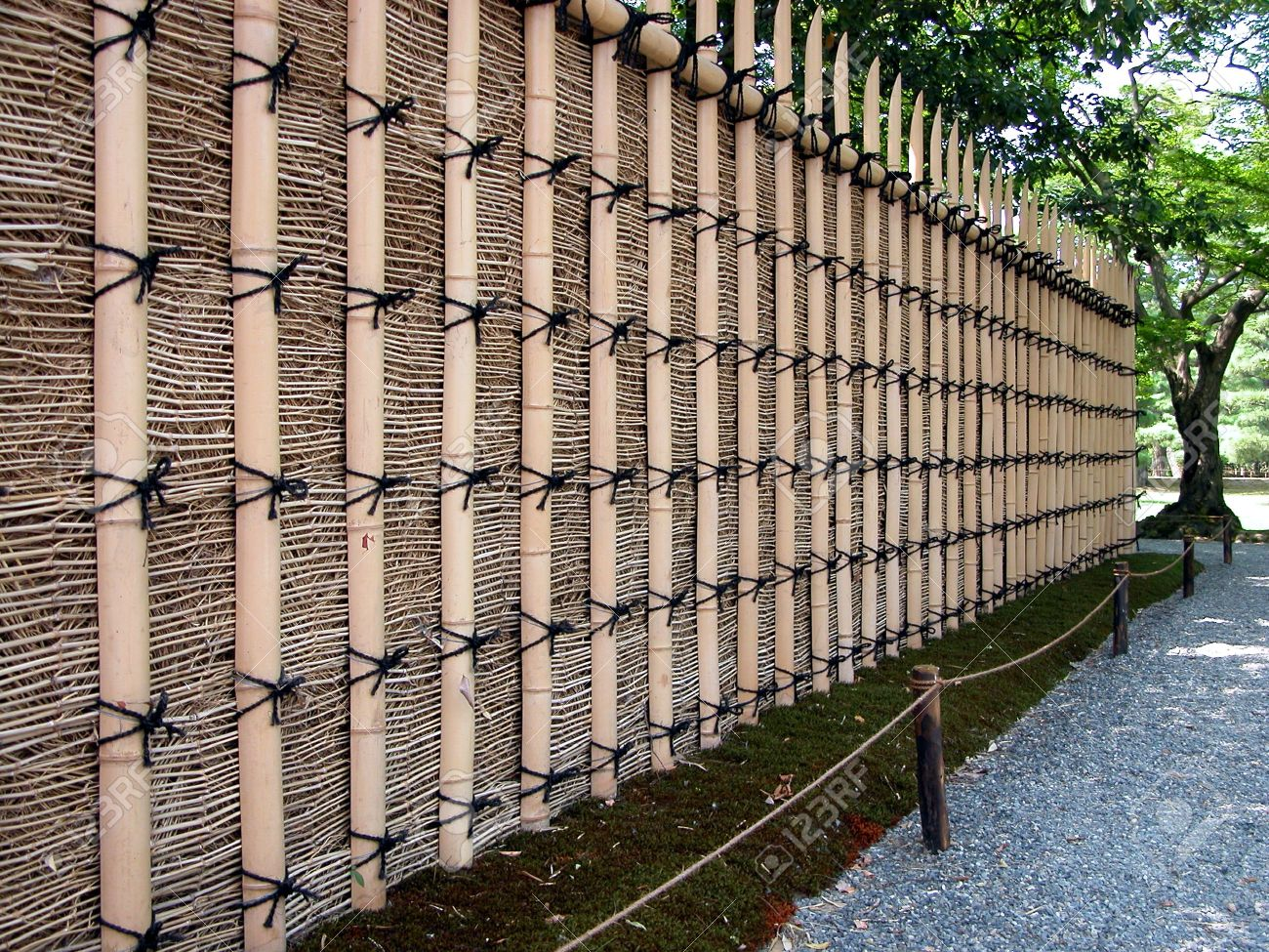 A bamboo fence which surrounds the katsura imperial villa from a bamboo fence which surrounds the katsura imperial villa from kyotojapan stock photo baanklon Image collections