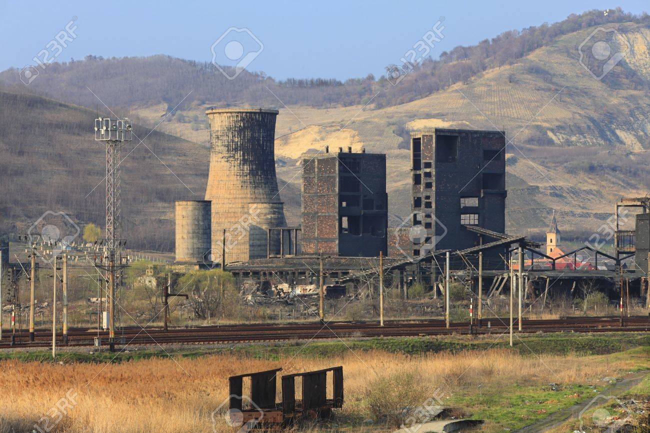 Ruins of a very heavily polluted industrial site at Copsa Mica,Romania.In 1990's the place was known as one of the most polluted towns in Europe. Stock Photo - 5310298