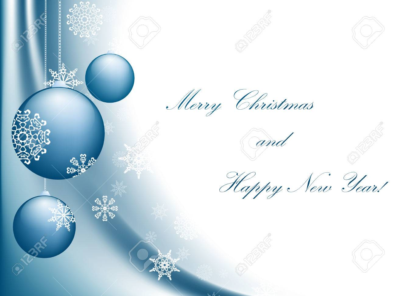 Merry Christmas and Happy New year greeting card with copyspace - 8056860