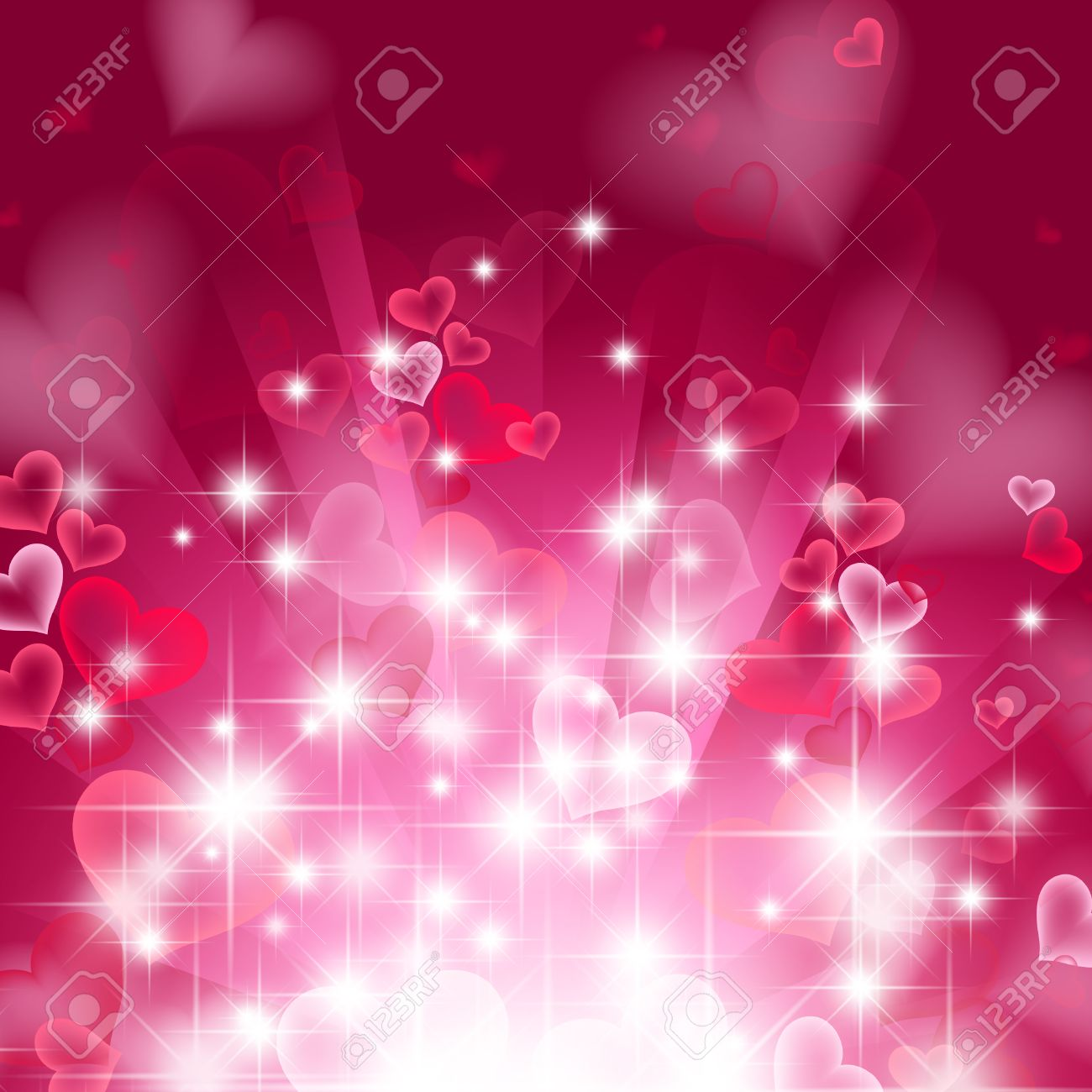 love bright theme with hearts and stars - 8193472