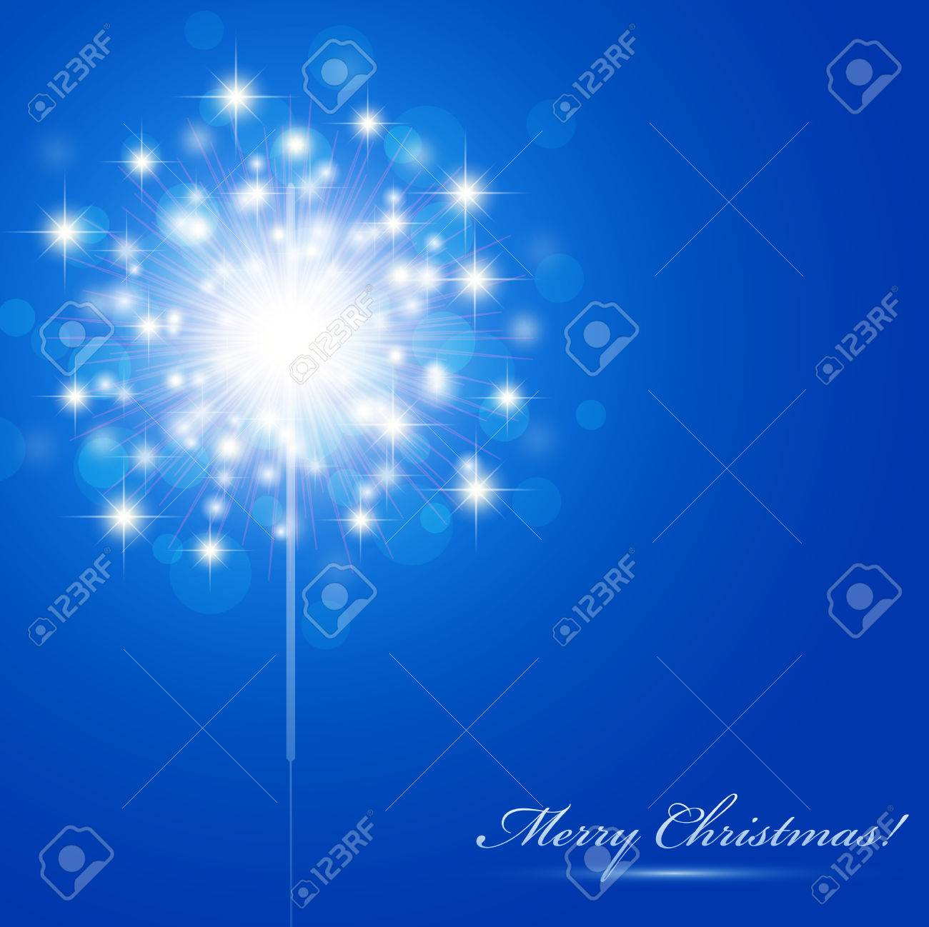 Christmas theme with sparkler and copyspace - 8193476