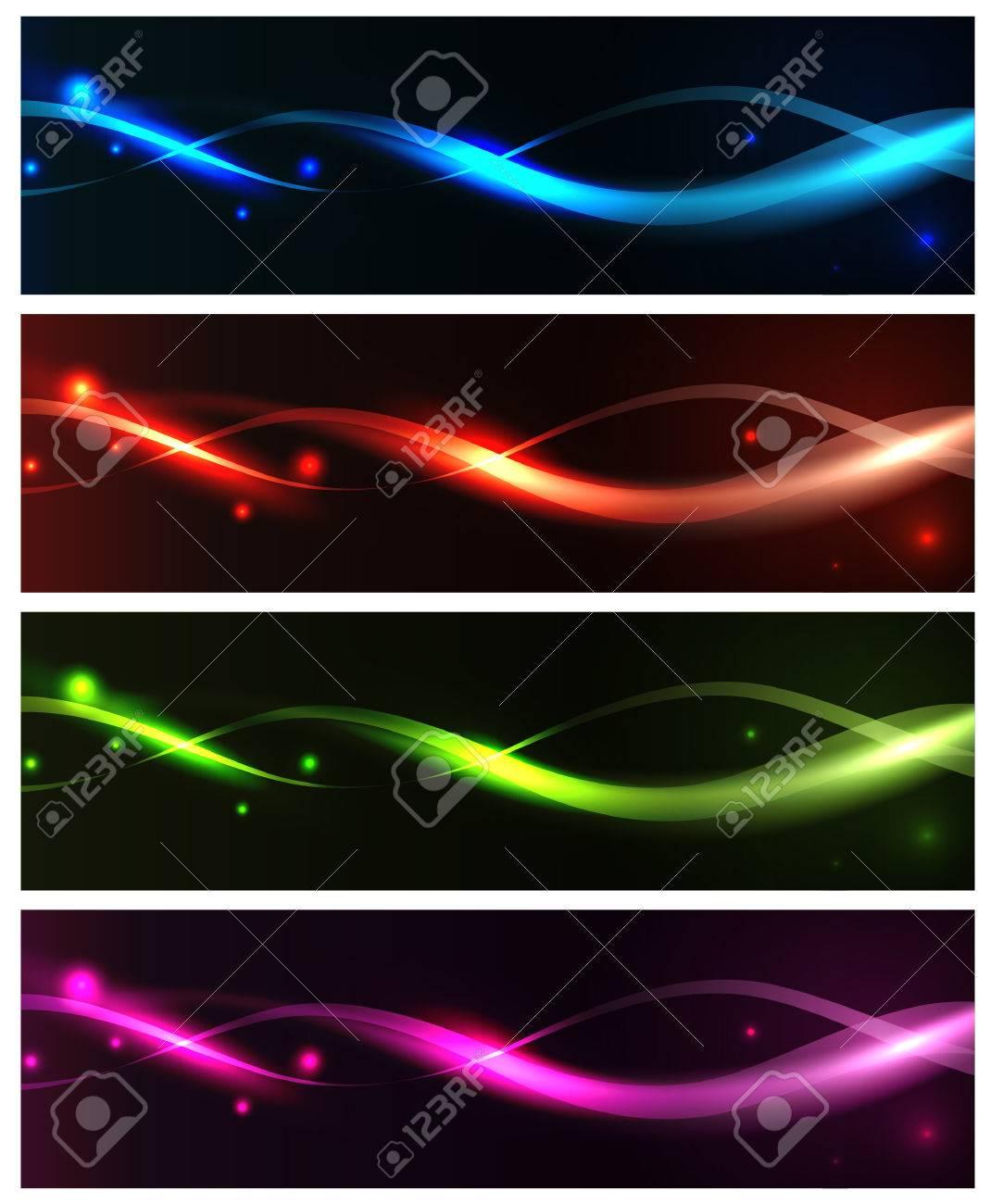 bright neon banner set - 8262072