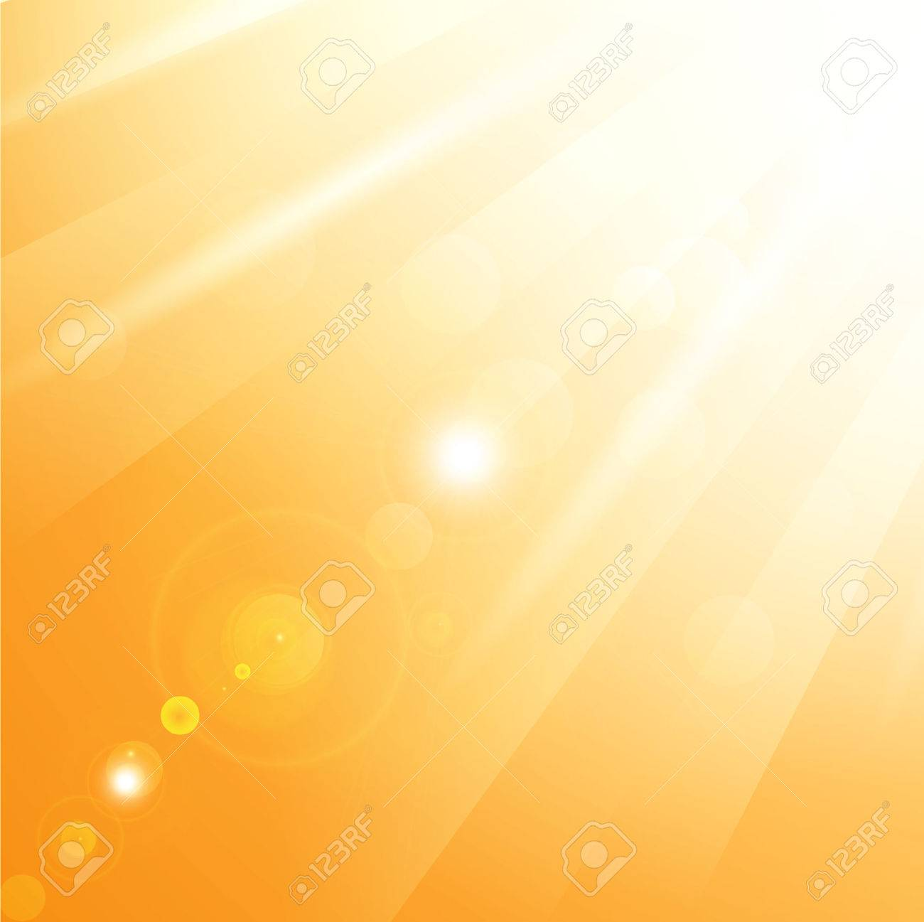 illustration of warm sun rays - 8928600