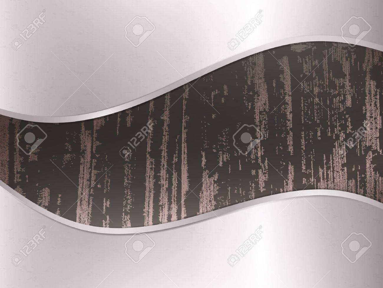 dark wooden background in metal frame - 8928588