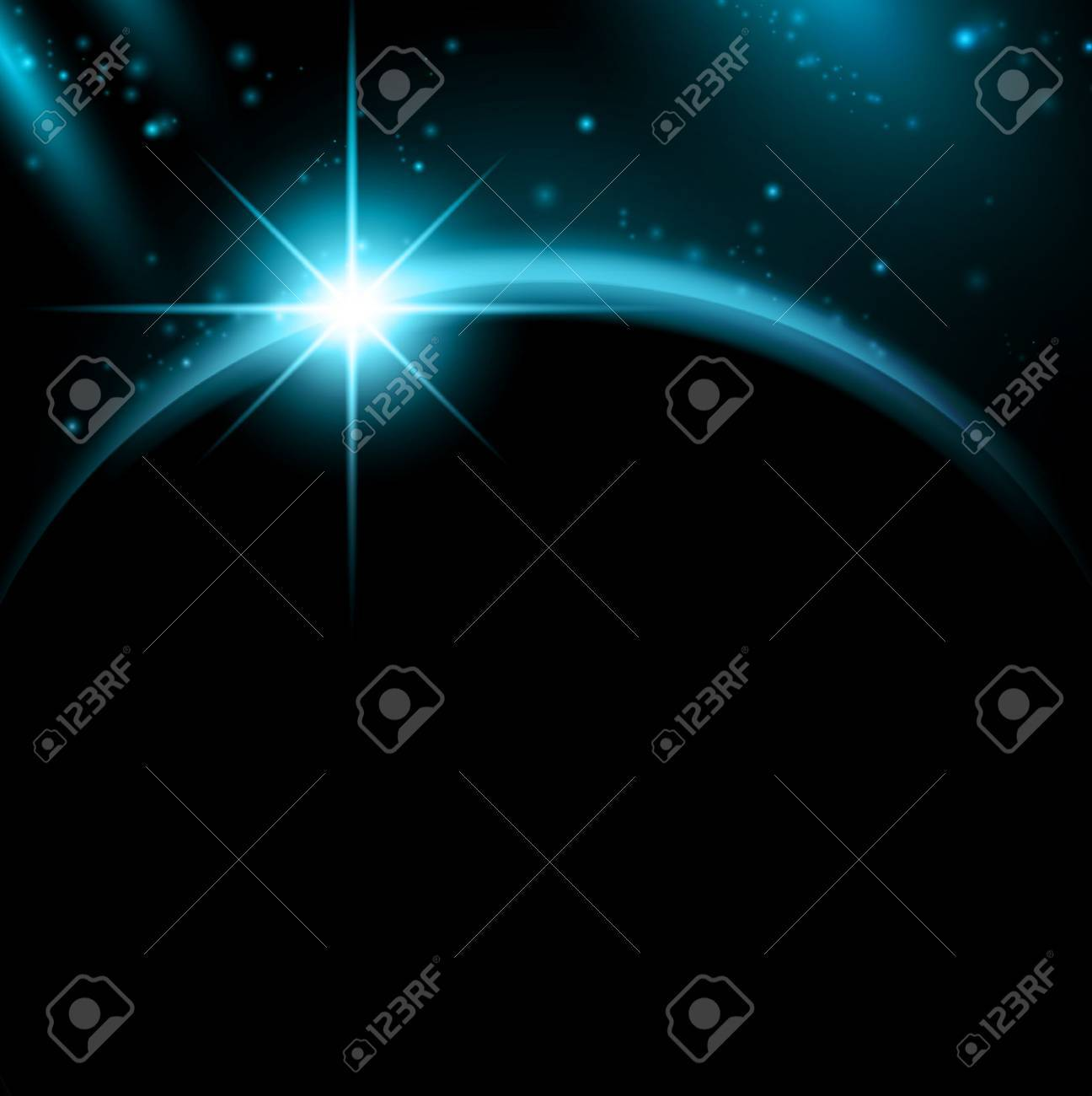 space in night with copyspace for your text - 9093442