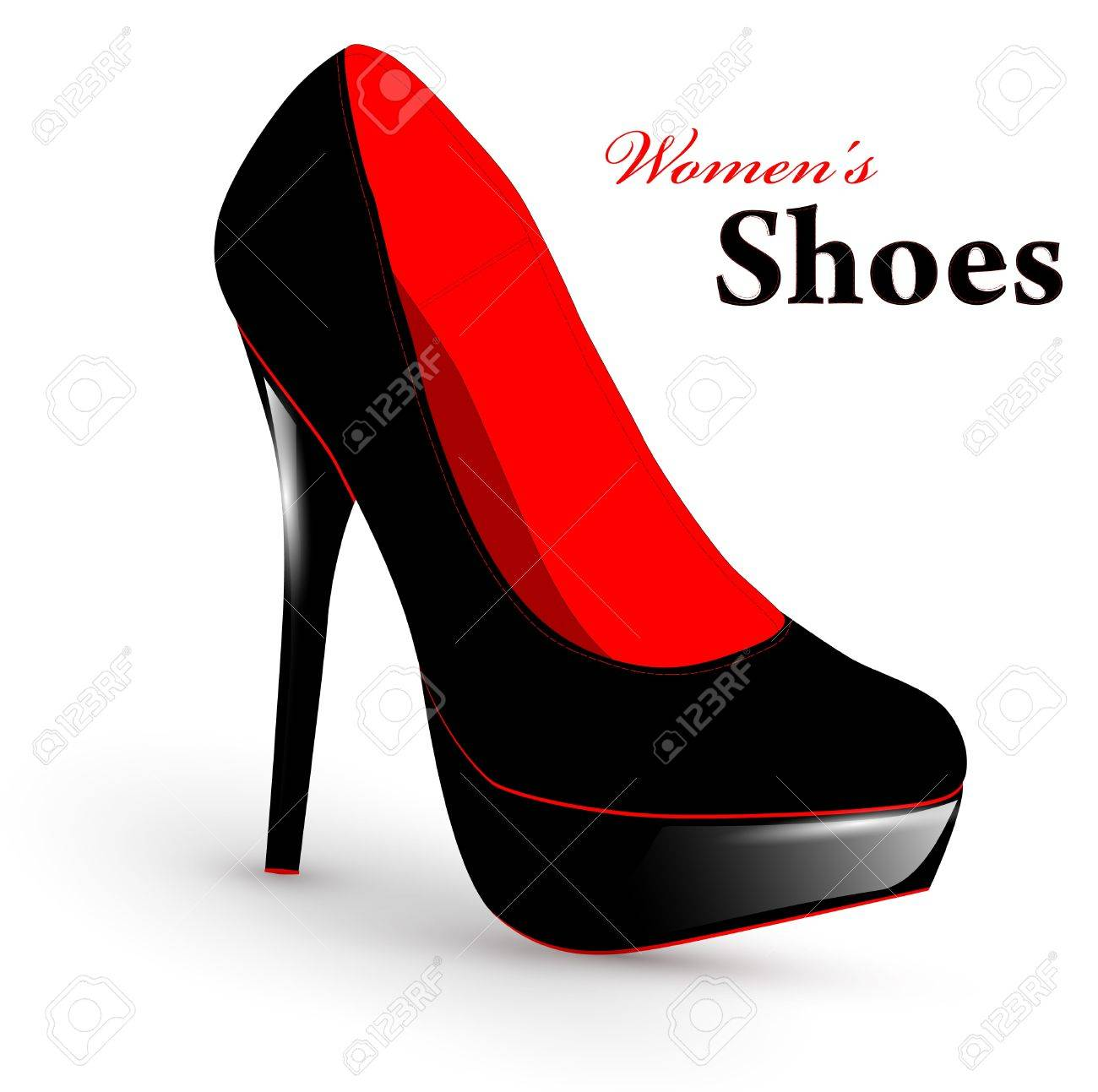 Illustration of fashion high heel woman single shoe - 9505877