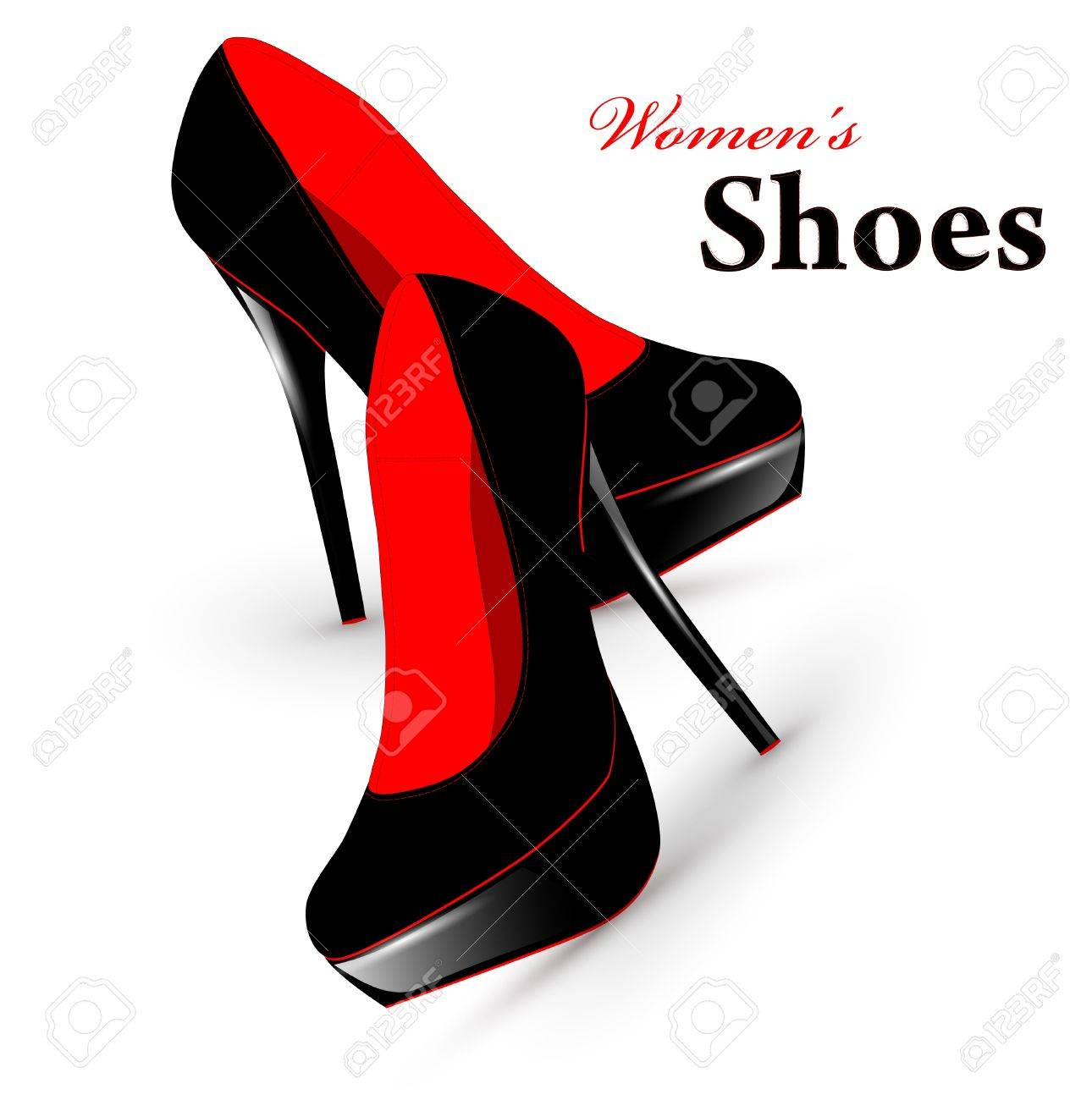 Illustration of fashion high heel woman shoes - 9505878