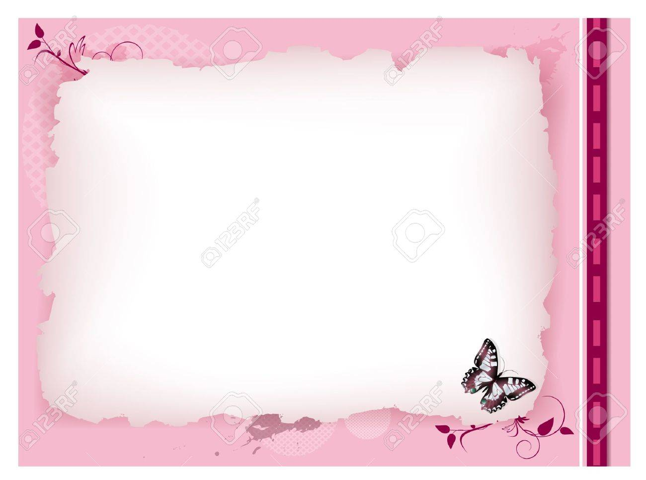 decorative vintage invitation card with floral elements and copyspace Stock Vector - 10043043