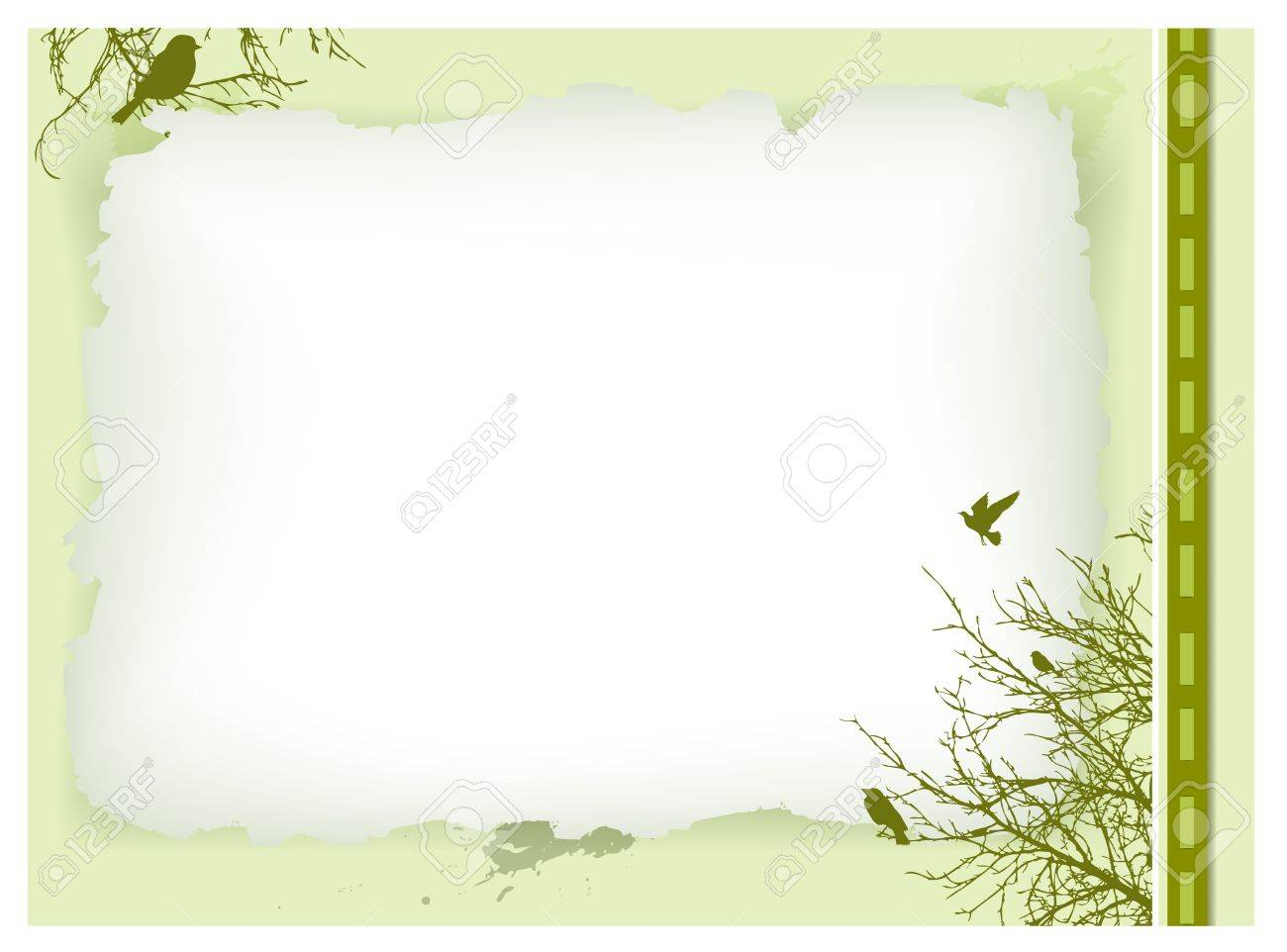 decorative vintage invitation card with nature elements and copyspace - 10043041