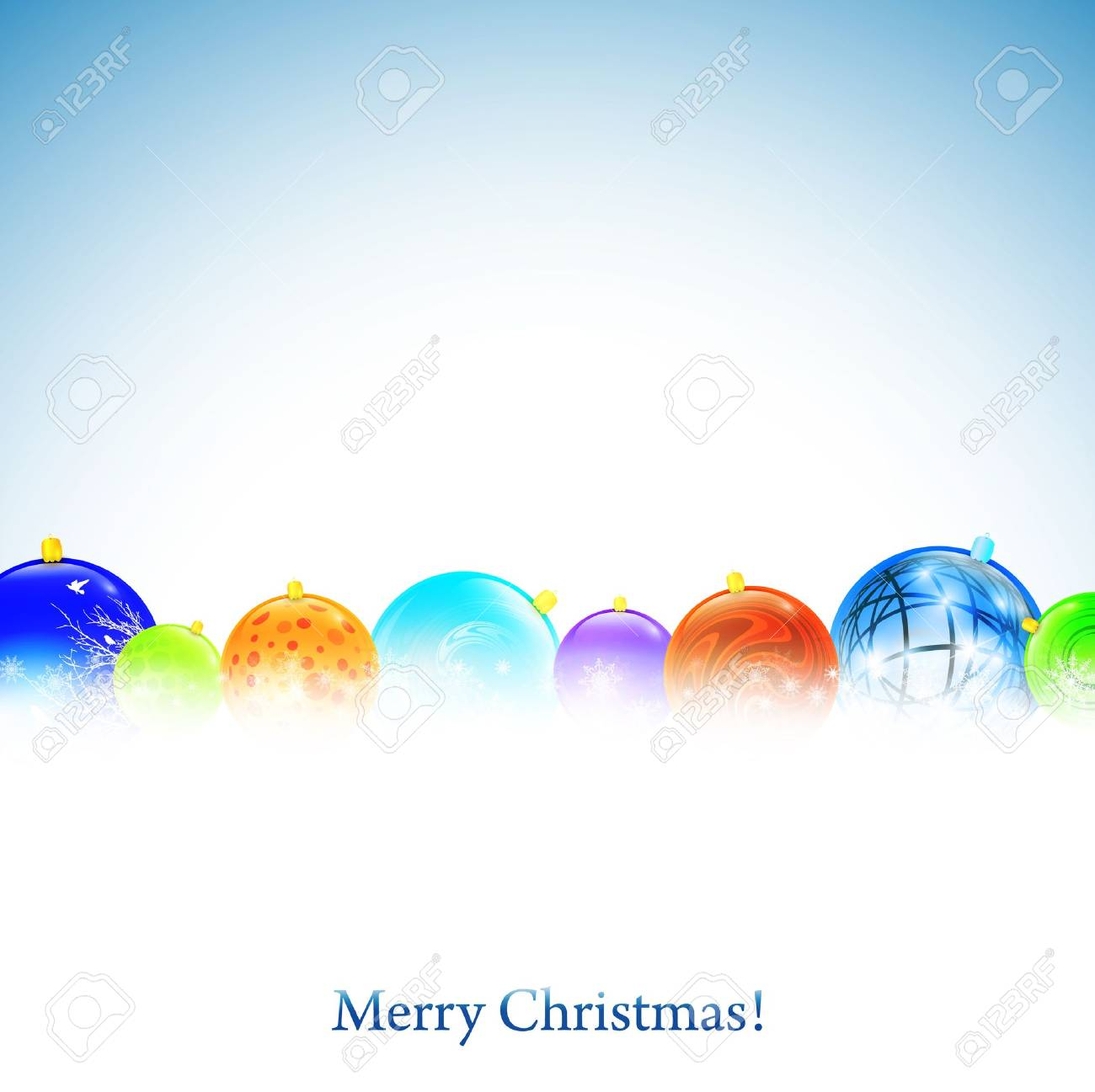 Christmas background with New year decorative balls and copyspace - 10836098