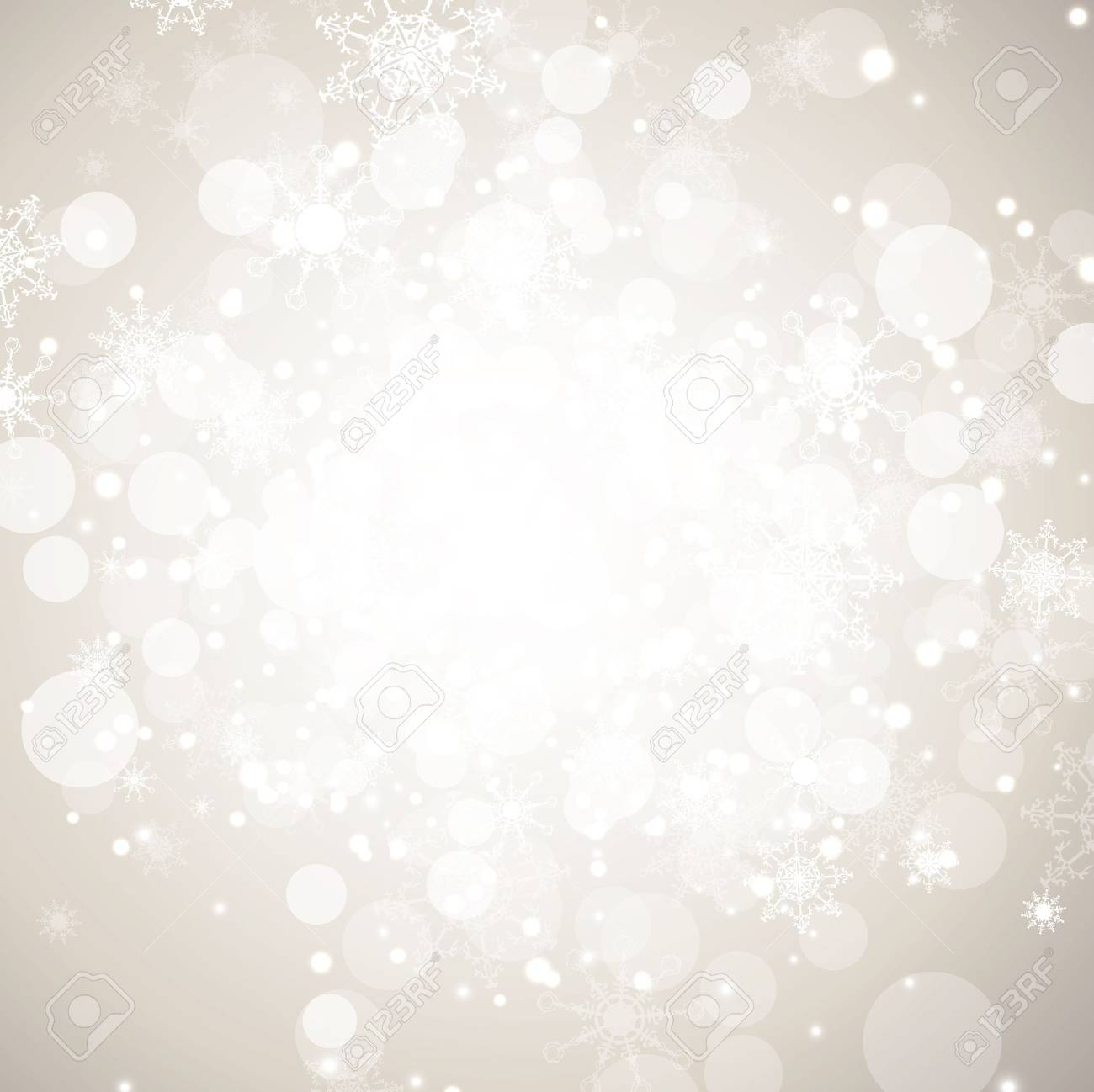 Winter holiday abstract background with snowflakes and copy-space - 11090025