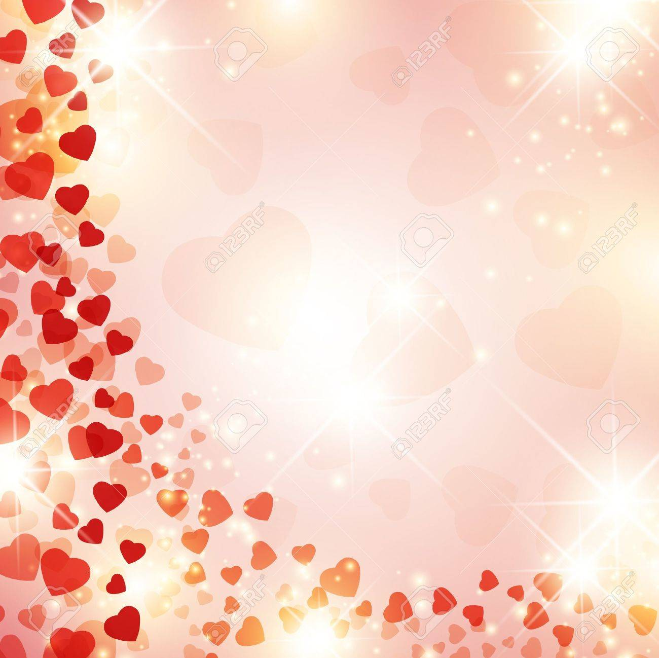 Valentine day background with red drapery and stars - 11660524
