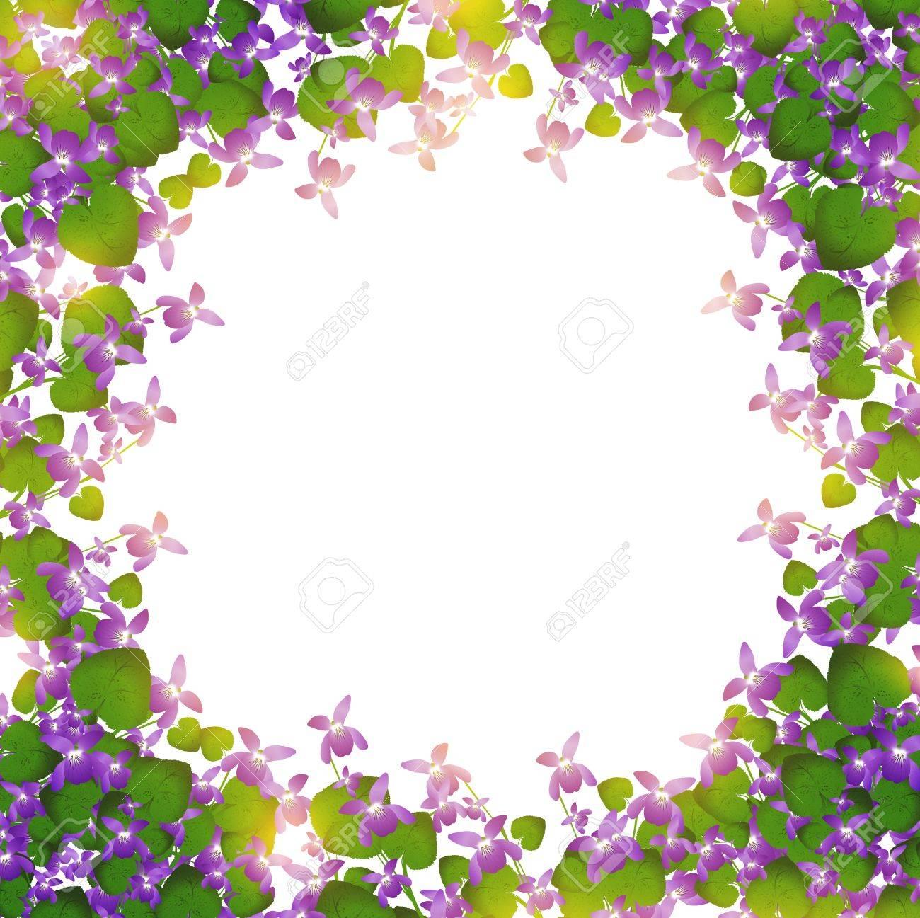 border of wild violet over white background - 12250528