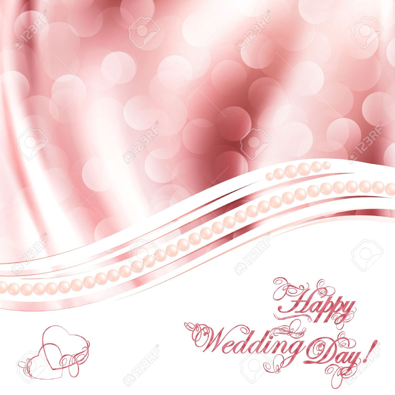 Wedding greetings over fabric drapery pink background Stock Vector - 12486527