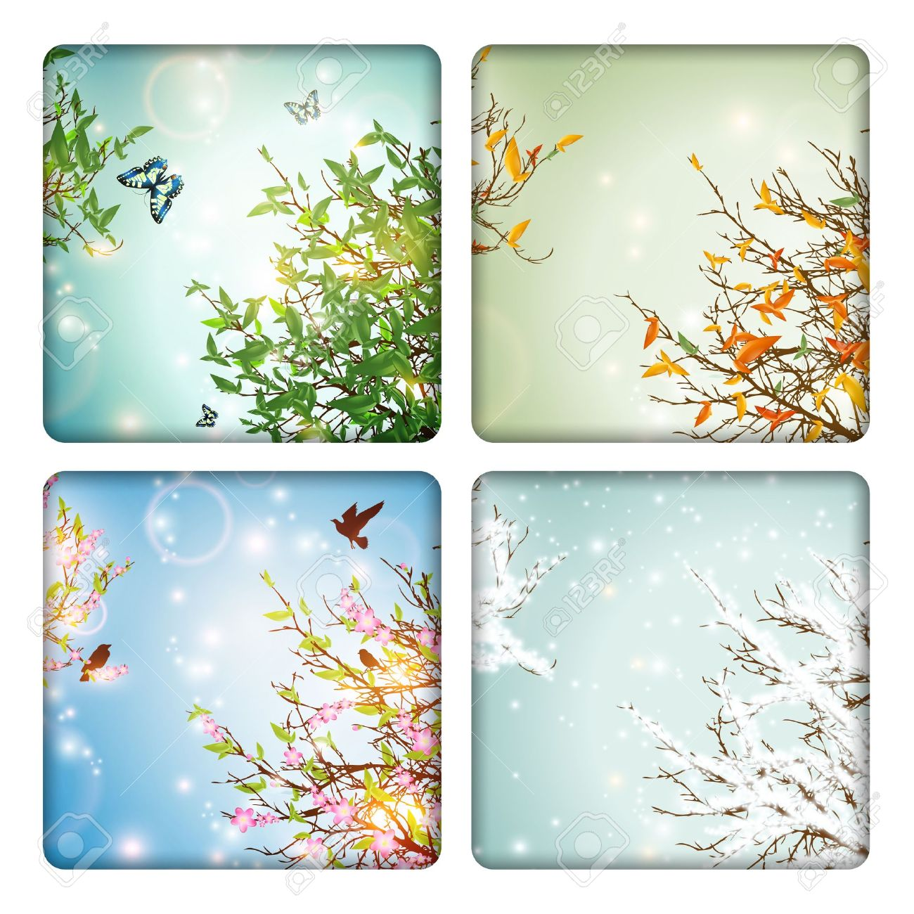 Four Seasons: spring, summer, autumn and winter - 14008342